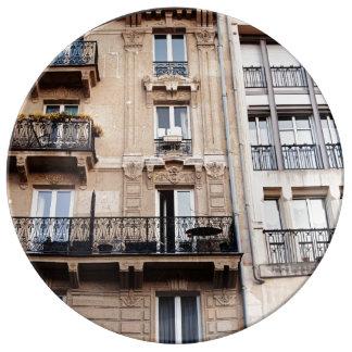 Parisian Balcony Porcelain Plates