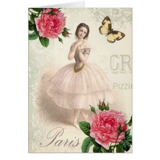 Parisian Ballerina Card