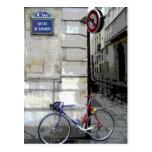 Parisian Bicycle Postcard