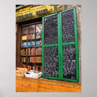 Parisian Bookshop Fresco Poster