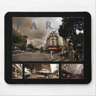 Parisian Cafe Scene Mouse Pad