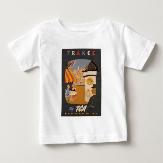 Parisian Cafe Travel Poster Infant T Baby T-Shirt