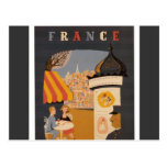 Parisian Cafe Travel Poster Post Cards