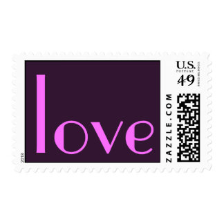 Parisian Calligraphy Pink Love Postage