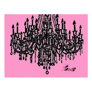 Parisian Chandelier Postcard