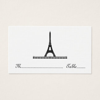 Parisian Chic Place Card, Black Business Card