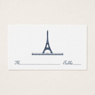 Parisian Chic Place Card, Blue Business Card
