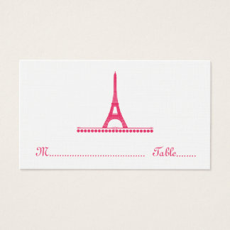 Parisian Chic Place Card, Pink Business Card
