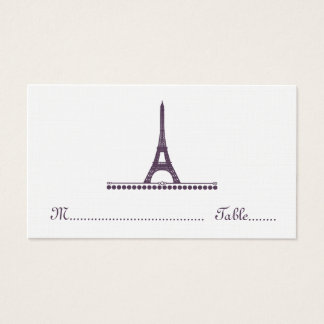 Parisian Chic Place Card, Purple Business Card