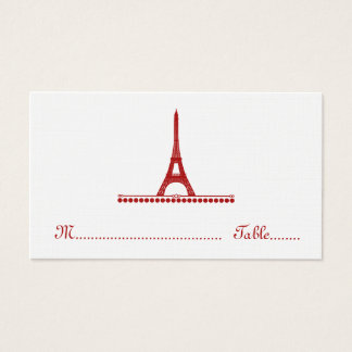 Parisian Chic Place Card, Red Business Card