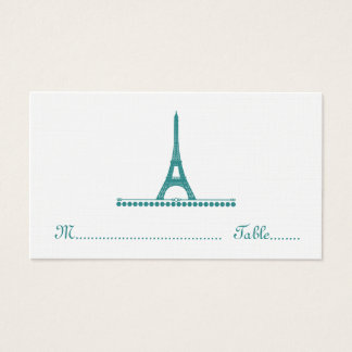 Parisian Chic Place Card, Teal Business Card