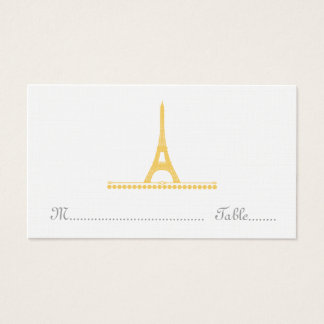 Parisian Chic Place Card, Yellow Business Card