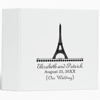 Parisian Chic Wedding Binder, Black 3 Ring Binder