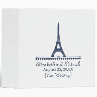 Parisian Chic Wedding Binder, Blue Binder