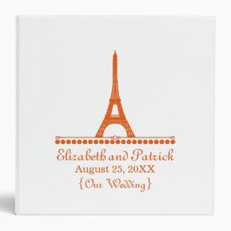 Parisian Chic Wedding Binder, Orange Binder