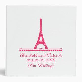Parisian Chic Wedding Binder, Pink 3 Ring Binder