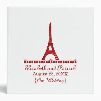Parisian Chic Wedding Binder, Red 3 Ring Binder