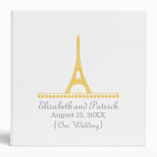 Parisian Chic Wedding Binder, Yellow 3 Ring Binder