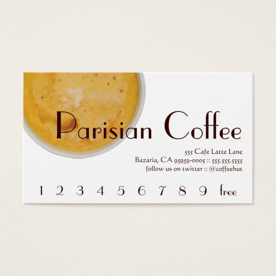 Parisian Coffee Drink Loyalty / Punch Card
