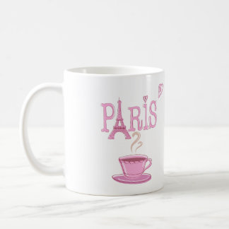 Parisian Coffee Mug with Bistro and Eiffel Tower