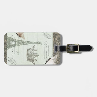 Parisian Collage Bag Tag