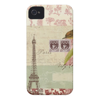 Parisian Collage for Customization iPhone 4 Case