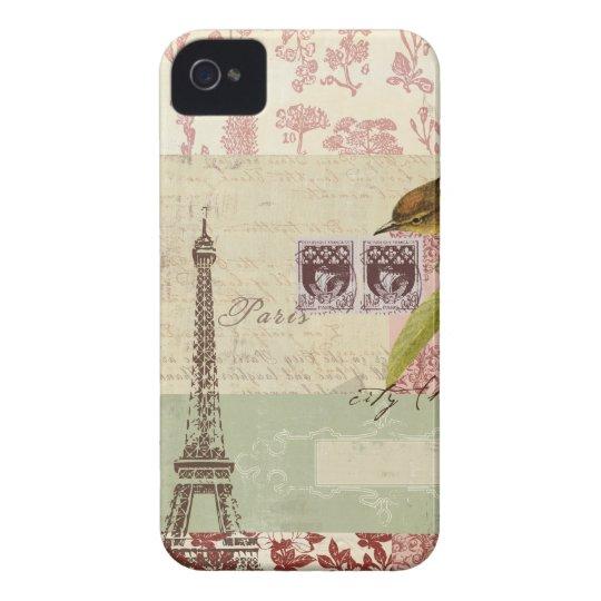 Parisian Collage for Customization iPhone 4 Case-Mate Case