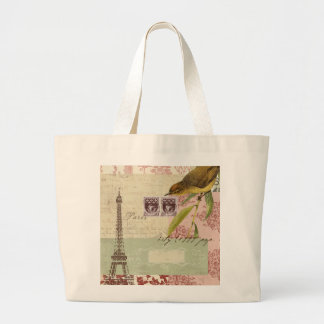 Parisian Collage for Customization Large Tote Bag