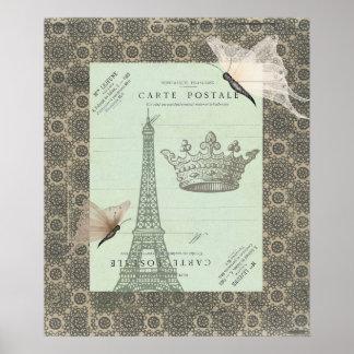 Parisian Collage Print