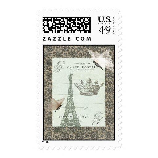 Parisian Collage Stamp