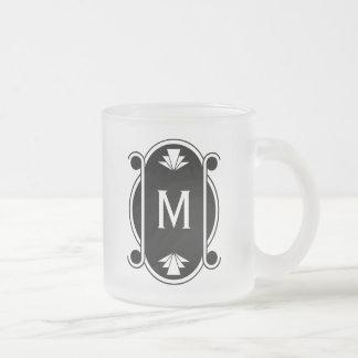 Parisian Deco Monogrammed Coffee Mugs