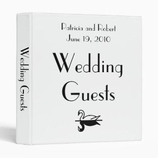 Parisian Deco Wedding Guests Book 3 Ring Binder