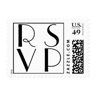 Parisian Deco Wedding RSVP Stamps