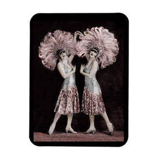 Parisian Dolly Twins Magnet