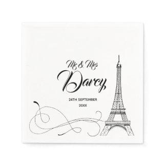 Parisian Doodles Disposable Napkin