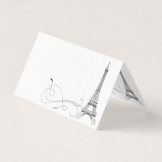 Parisian Doodles Place Card or Escort Card