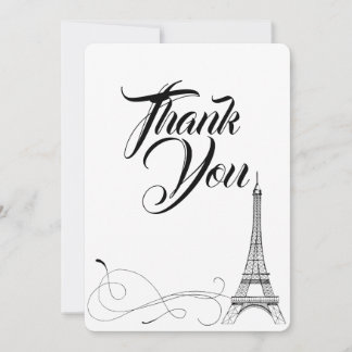 Parisian Doodles Thank You Card