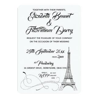 Parisian Doodles Wedding Invitation