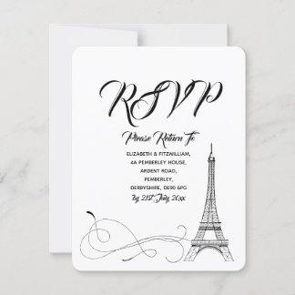 Parisian Doodles Wedding RSVP