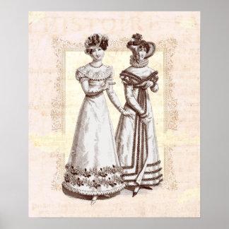 Parisian Dresses of the Biedermeier Period Posters