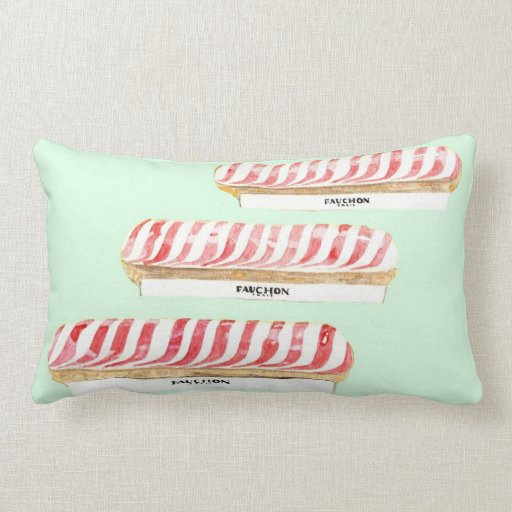 Parisian Eclairs pillow by Anne Harwell