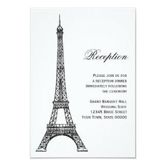 Parisian Eiffel Tower Black & White Reception Card Invitations