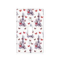 Parisian Eiffel Tower Purple Chic Light Switch Cover