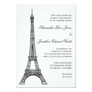 Parisian Eiffel Tower Wedding Invitation