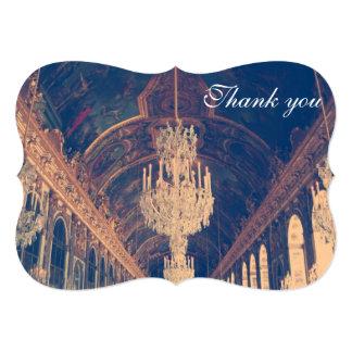 Parisian Elegant chandelier thank you invitation