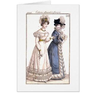 Parisian Fashion Illustration - Greeting Card