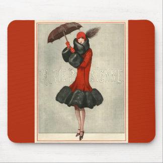 Parisian Fashion Illustration Mousepads