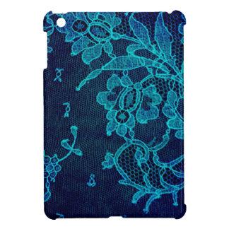 Parisian Feminine Victorian Gothic Navy Blue Lace Case For The iPad Mini