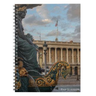 Parisian Fountain - Fontaine des Fleuves Notebook