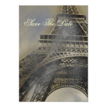 Parisian french wedding save the date card